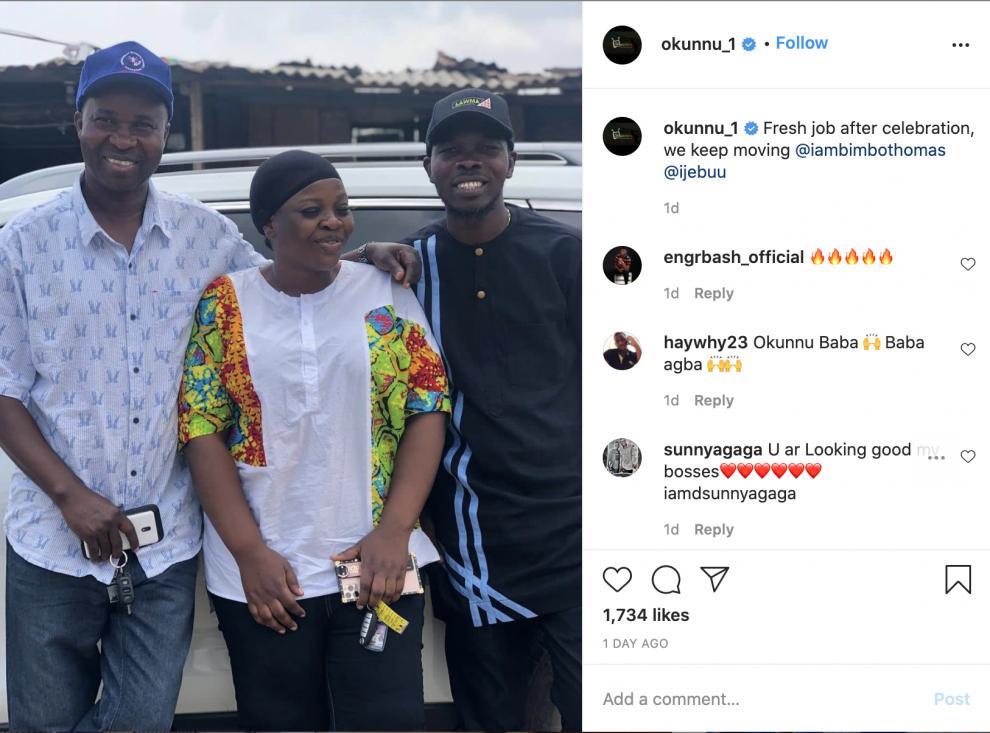 Nollywood Actor Okunnu Step Out With Ijebu and Actress