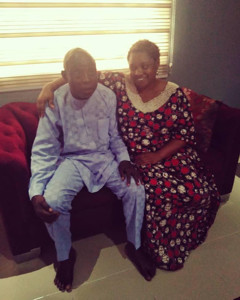 Aminatu Papapa and late dad