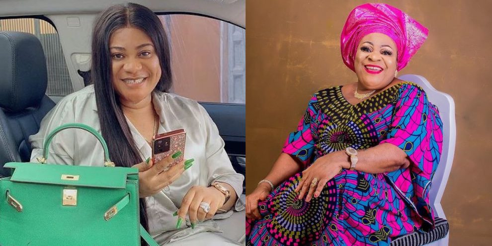 Nkechi Blessing and Late Mother