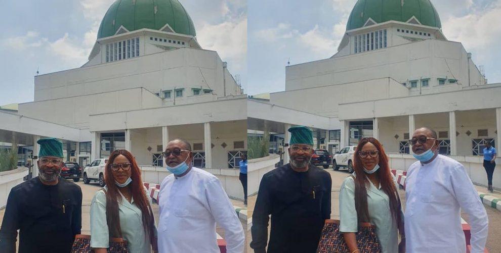 Yemi Solade, Jide Kosoko, and Fathia Balogun at the National Assembly